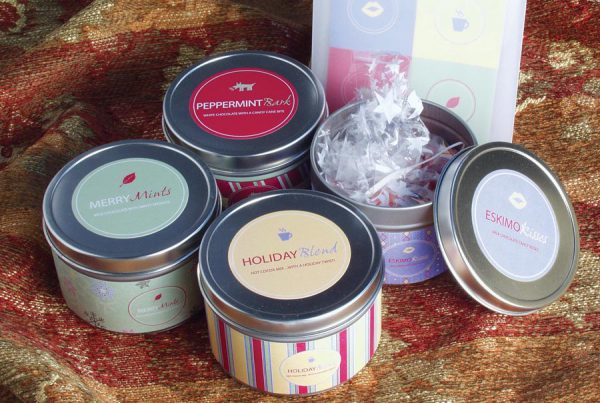 Holiday Gift Tins packaging design