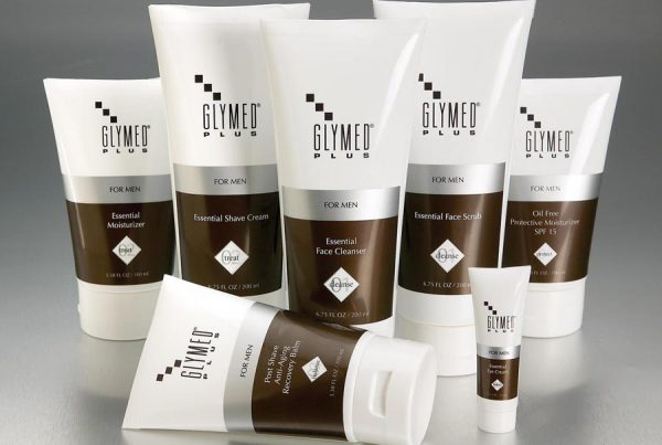GlyMed Plus Mens skin care packaging design
