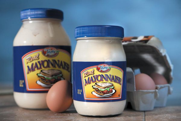 Tasty Foods mayonnaise packaging design