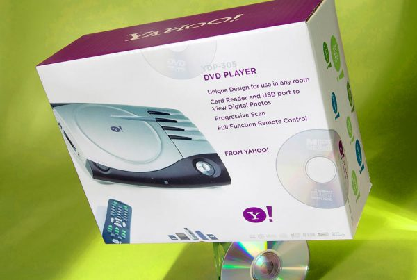 Yahoo! Consumer Electronics MP3 player packaging design