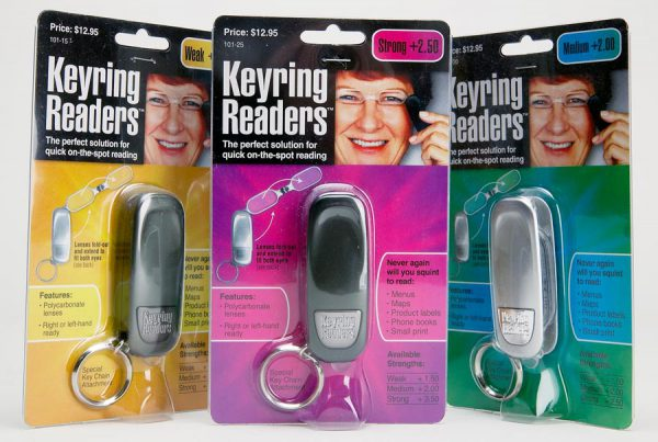 Keyring Readers blister pack packaging design