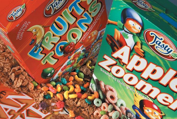 Tasty Foods cereal packaging design