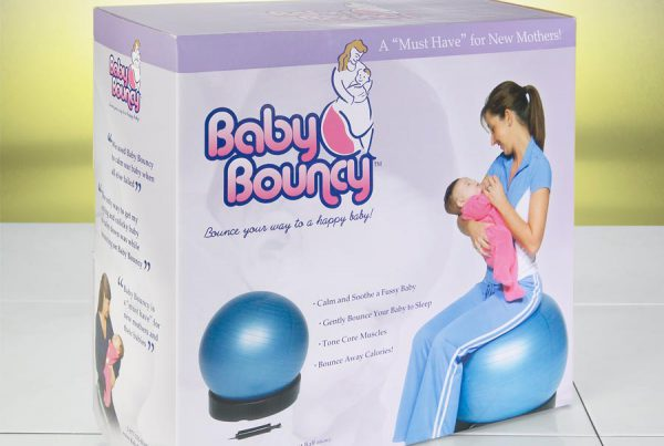 Baby Bouncy retail packaging design