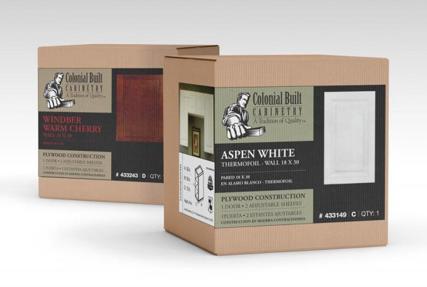 Colonial Built Cabinet packaging