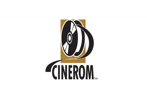 cinerom logo shows a film reel and CD-ROM combined