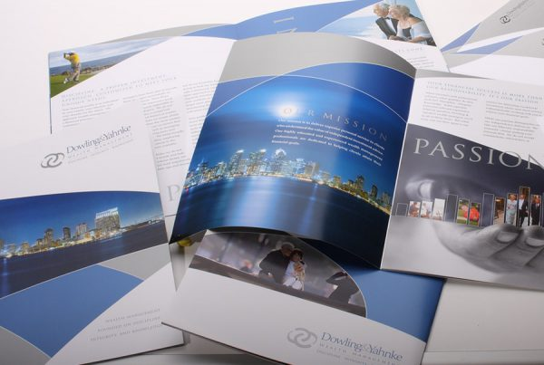 Dowling and Yahnkee brochure design photo