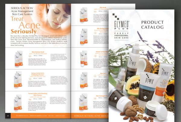 catalog design for all natural organic glymed plus products second generation