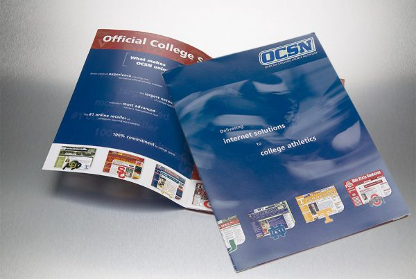 catalog design for official college sports network