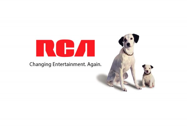 brand design logo signature for RCA consumer electronics