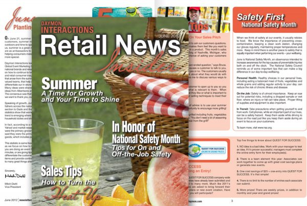 graphic design for newsletter retail news insider