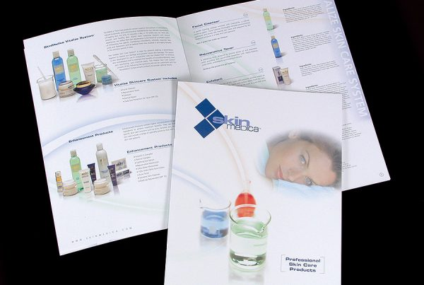 catalog design for SkinMedica skin care brand