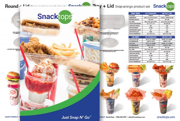 catalog design for Snacktops products