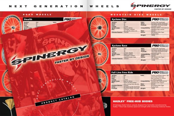 catalog design for Spinergy brand