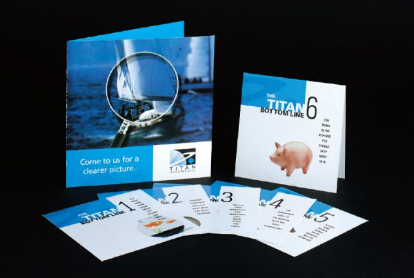 Graphic Design for Titan Value Equities direct mail campaign