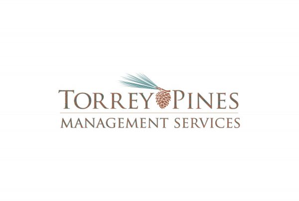 brand design logo for Torrey Pines Management