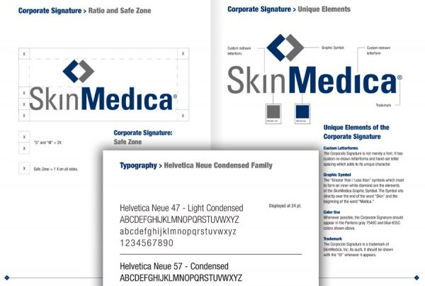 graphic design identity standards manual guide for skin care brand