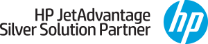 hp Jet advantage solutions partner logo design