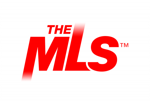 Red letter forms spelling The MLS with faded effects to white