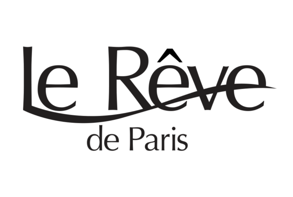 Le Réve de Paris word set with long flowing leg coming off of the L