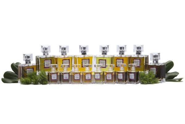 PRODUCT PHOTOGRAPHY OF SOLANA BOTANICALS PRODUCT LINE WITH LEAVES