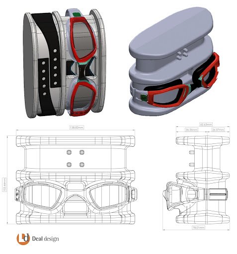 Package Engineering drawings for Phelps Goggles