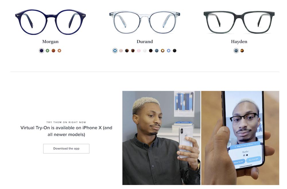 Warby Parker AR